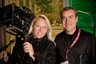 Photo: SHAPE president Mylène Girard and Martin Turcotte (Lozeau) at D-CLIC show 2011