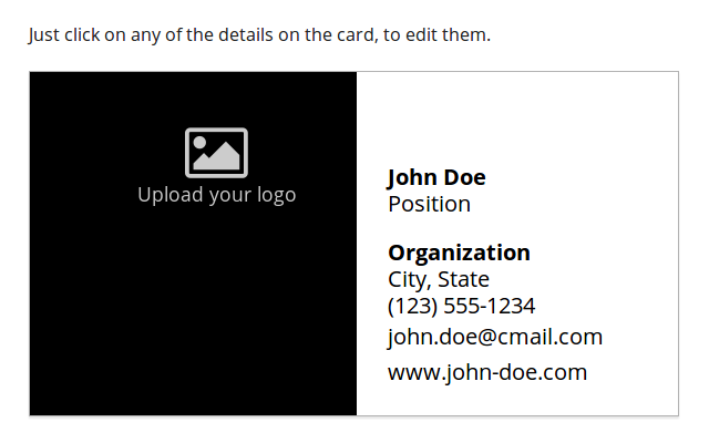 Business Card Maker Chrome Web Store