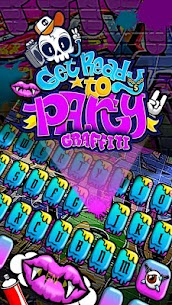Party Graffiti Keyboard Theme 1