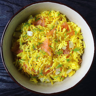 Saffron Rice with Fennel and Smoked Salmon Recipe