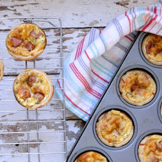 Packed Lunch Smoky Sausage Mini Quiches.