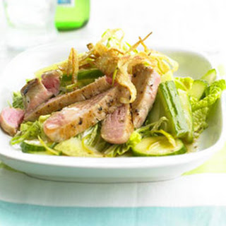 Tuna Salad with Wonton Crisps