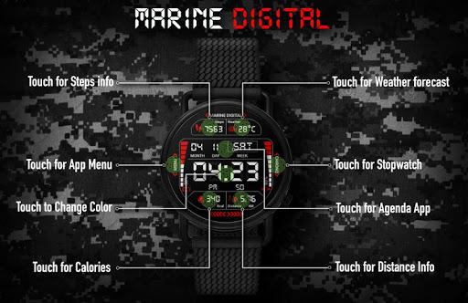 Marine Digital 2 Watch Face & Clock Live Wallpaper 1.07 screenshots 3