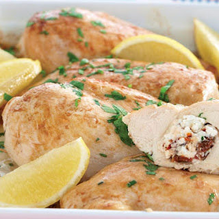 Feta Stuffed Chicken.