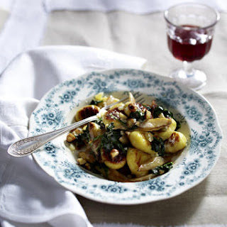 Gnocchi with White Asparagus and Spinach.