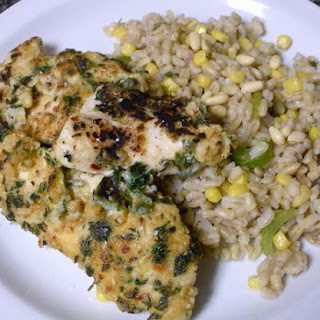 Herby Pine Nut Chicken with Vegetable Pearl Barley
