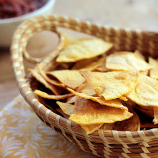 Baked Tortilla Chips with a Hint of Lime inspired by the Love of the Sport