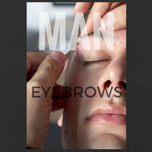 Man eyebrows grooming