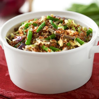 Quinoa with Cabbage and Green Beans.