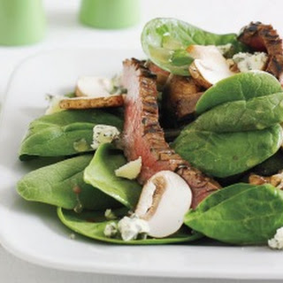 Spinach Salad with Creamy Yogurt Dressing.