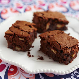 Ginger, Pecan And Rum Chocolate Brownies.