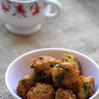 Corn Methi Pakoda Recipe - Corn and Fenugreek Leaves Fritters - Sweet Corn Recipes