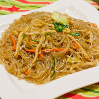 Japchae - Korean Glass Noodle Stir Fry