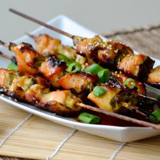 Weight Watchers Chicken Yakitori with Bell Pepper and Scallions
