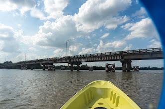 Photo: crossing a bridge
