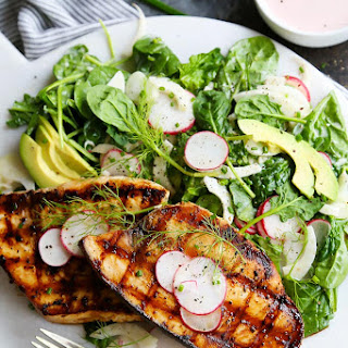 Grilled Swordfish with Tangy Rosé Wine Mayonnaise.