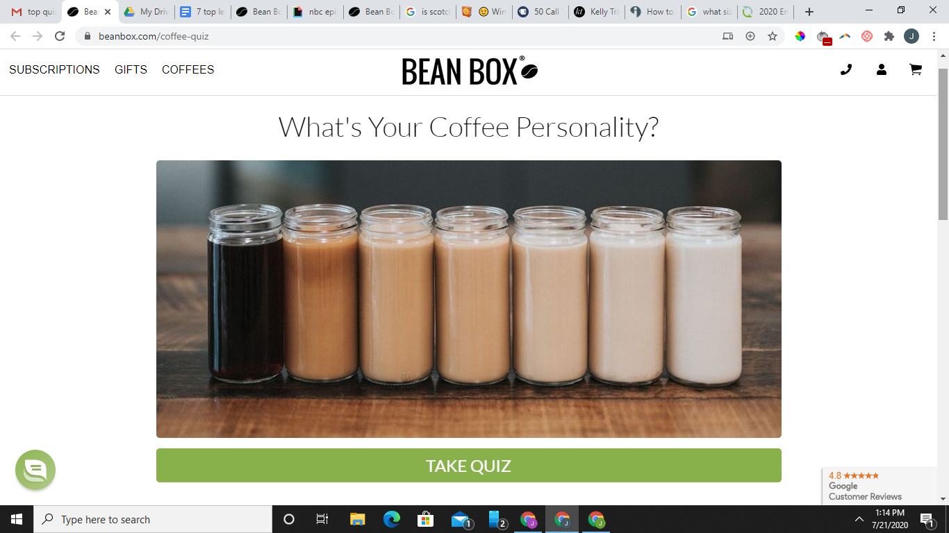 what's your coffee personality quiz cover