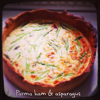 Parma Ham & Asparagus Quiche