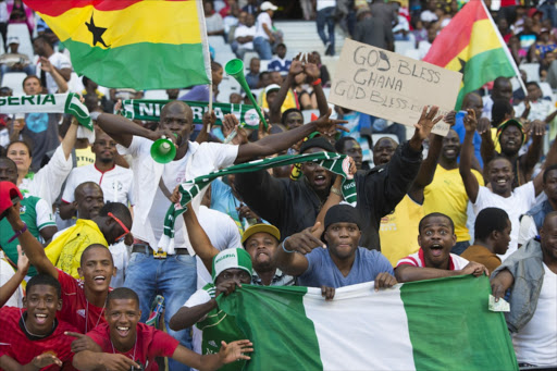 Supporters during the 2014 African Nations Championship 3rd and 4th play off between Nigeria and Zimbabwe at Cape Town Stadium on February 01, 2014 in Cape Town, South Africa.