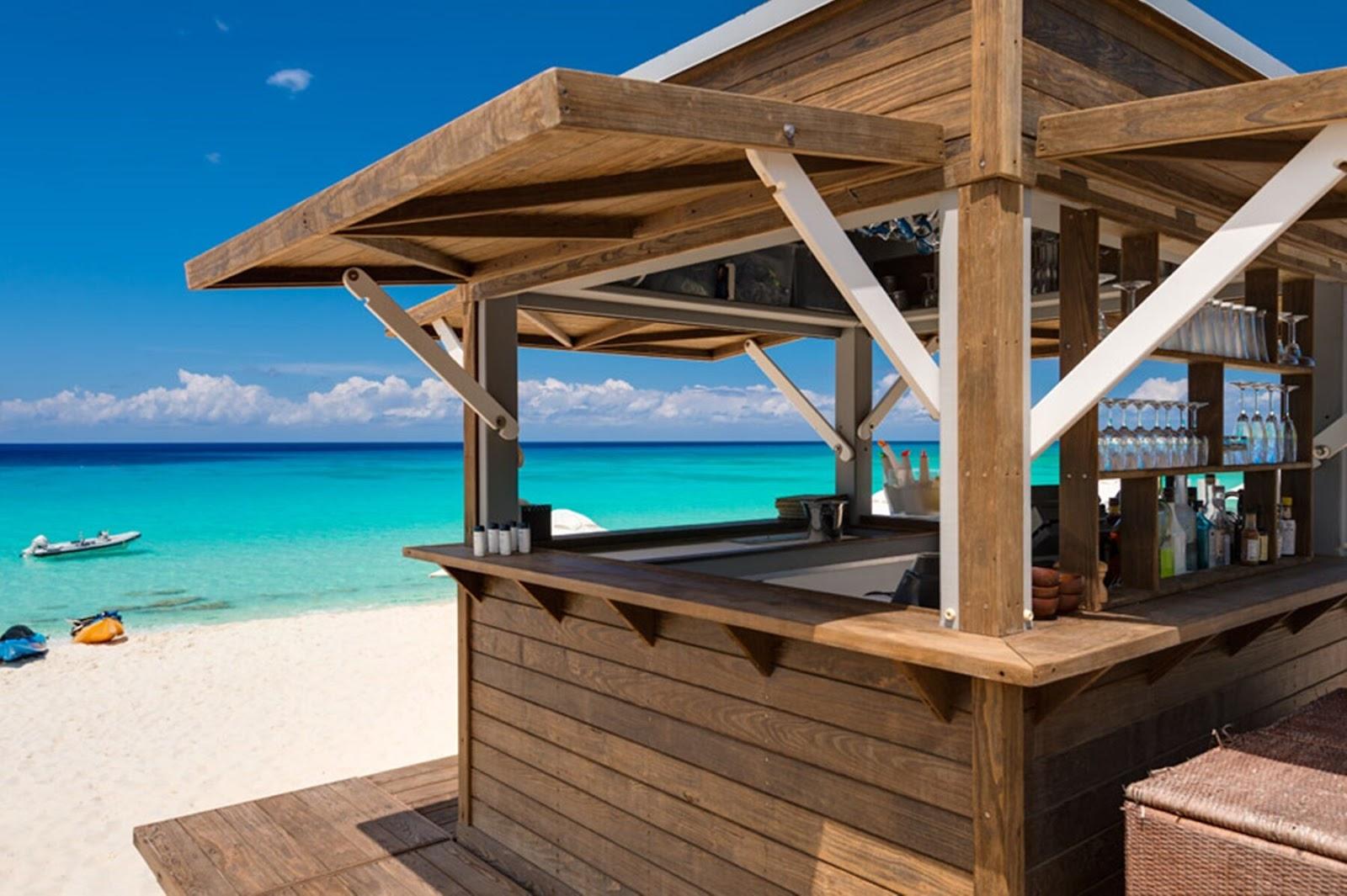 terrasse med bar