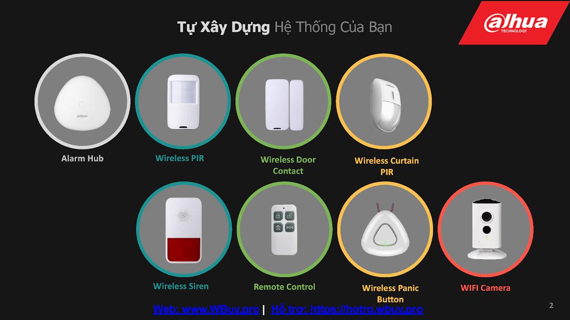 Các thiết bị báo động không dây của Dahua