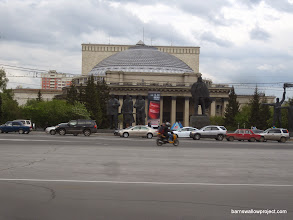 Photo: The opera house in the city center of Novosibirsk, near our hotel