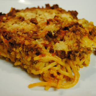 Cheesy Spaghetti Bake Cream Cheese Recipes