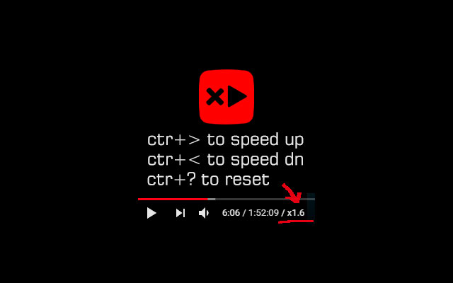 Youtube speed control