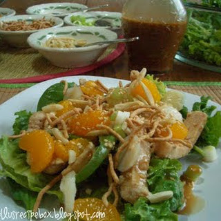 Asian Chicken Salad {with Asian Toasted Sesame Dressing}