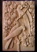 Photo: Guacamayos. Tamaño: 62 x 40 cm. Talla en madera. Woodcarving.  Para leer algo más en relación con esta obra ir al blog: http://tallaenmadera-woodcarving-esculturas.blogspot.com/2011/09/guacamayos.html