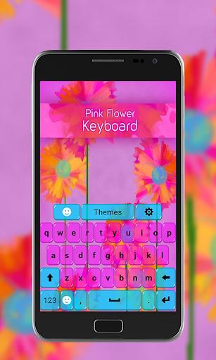 ✿❀✿ Pink Flowers Keyboard ✿❀✿