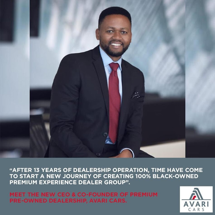 Thembinkosi Pantsi is venturing into business with his 100% black-owned Avari Cars which he hopes will disrupt the car dealership industry