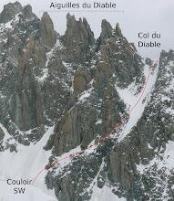 Photo: Col du Diable Southwest Couloir ©Camptocamp