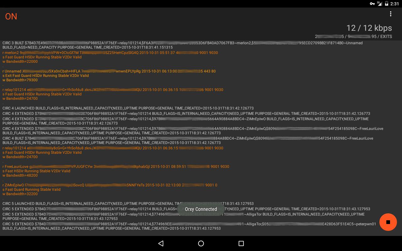 Orxify: Tor VPN- screenshot