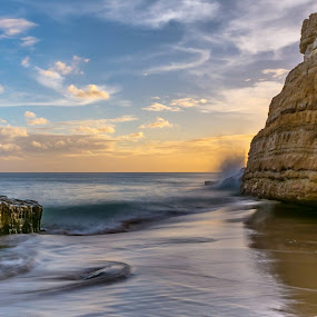 Salema by Lucio Dias - Landscapes Beaches ( relax, tranquil, relaxing, tranquility )