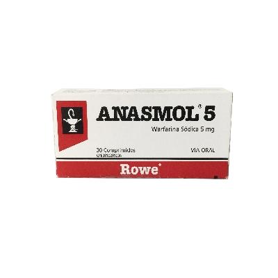 Warfarina Anasmol 5 mg 30 Comprimidos Rowe  5 mg 30 Comprimidos
