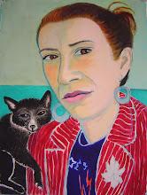 Photo: Portrait of Justine with Fox