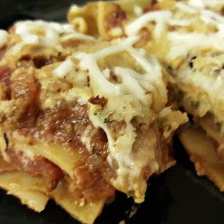Easy Vegan Lasagna with Basil Cashew Ricotta.