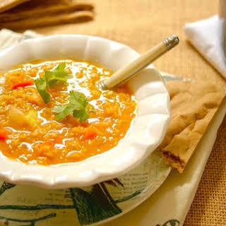 Red Lentil Coconut Curry Soup.