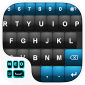 Blue Black Keyboard Theme