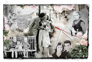 Photo: Коллаж из семейных фотографий на фотокамне с часами