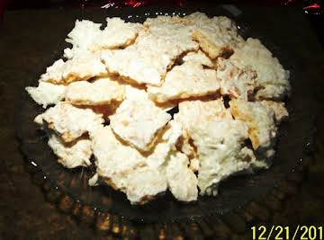 COCONUT MACAROON BARK CANDY ...quick and easy