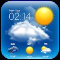 Transparent Clock&Weather Free icon