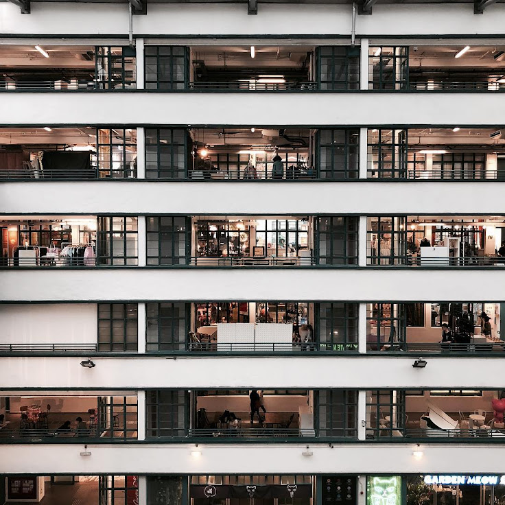 8 floors and 100 eateries, shops and creative businesses at PMQ.