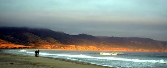 Photo: Sunset, Limantour Beach