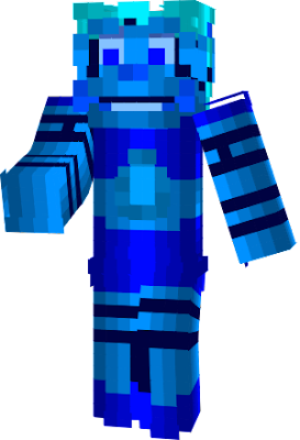 Here's MC Baby painted blue by Mac, after MC Baby jumped out of the portal and was deactivated, Mac saw her and decided to paint her blue, which is the same color as her sneakers, after MC Baby is reactivated, she found out that everyone was laughing since Mac painted her blue.