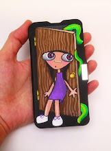 Photo: Funda de móvil .  Pintada en acrílico y barnizada. Consultar modelos disponibles y precio según modelo. Personalizables.