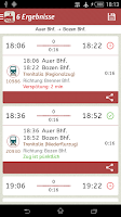 Screenshot of Timetable South Tyrol