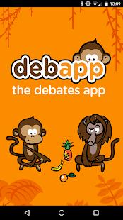 Debapp - náhled
