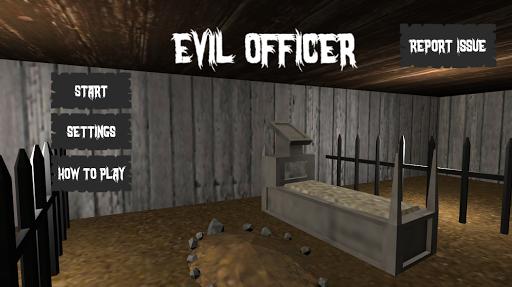 Evil Officer - Horror House Escape apkpoly screenshots 1